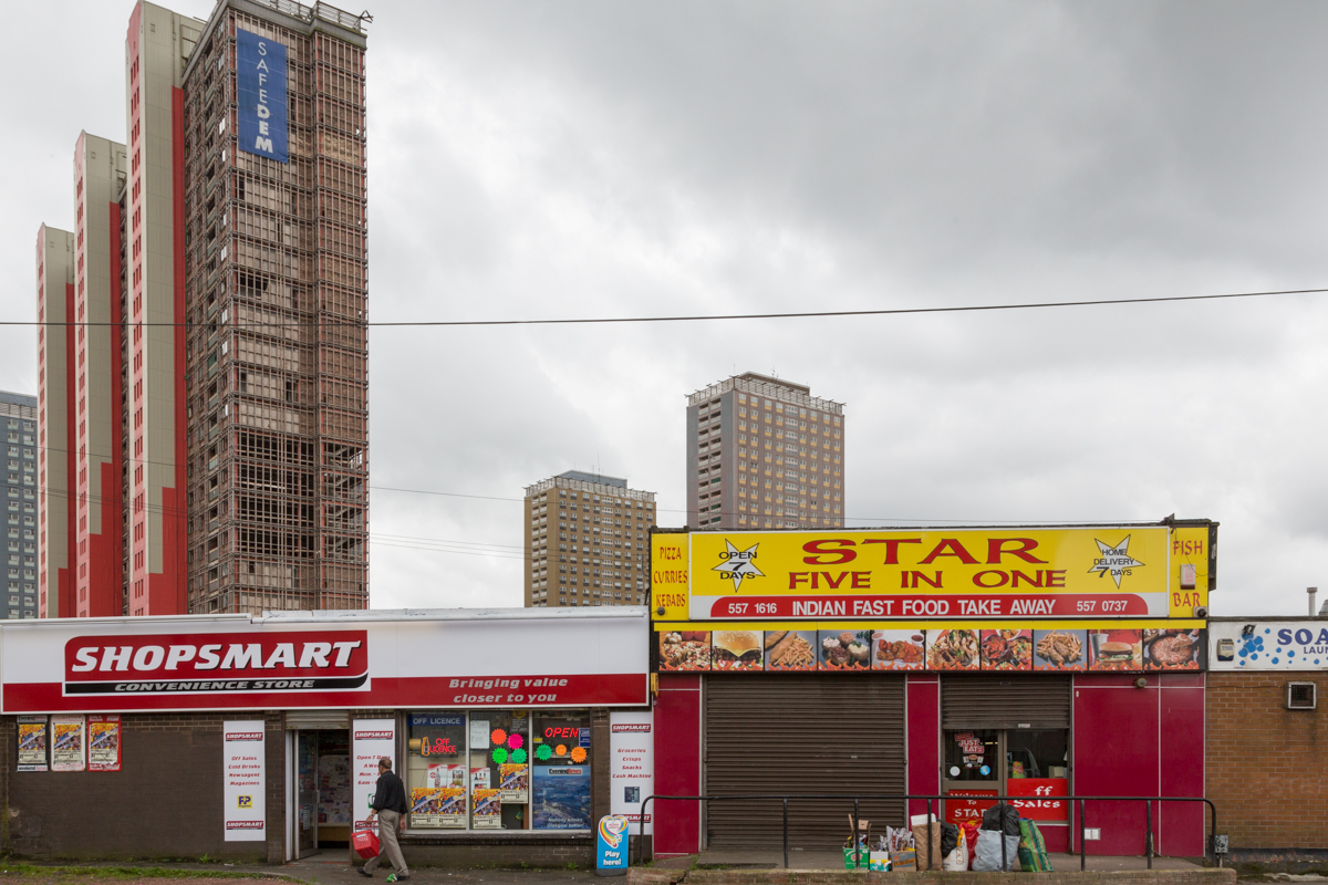 The Red Road flats in North Glasgow awaiting demolition