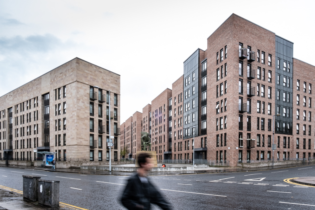 New city centre housing in Glasgow