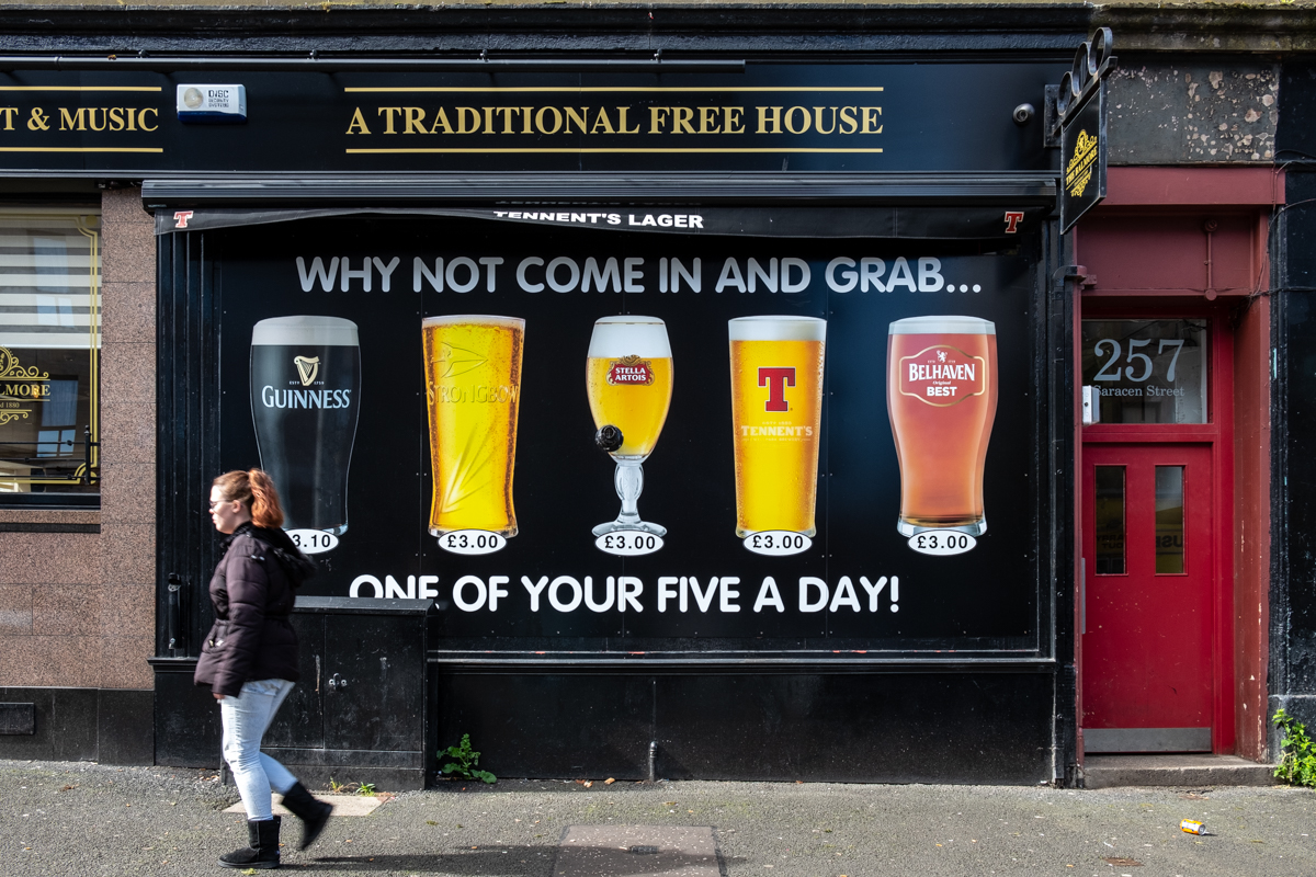 A pub in Possilpark, North Glasgow